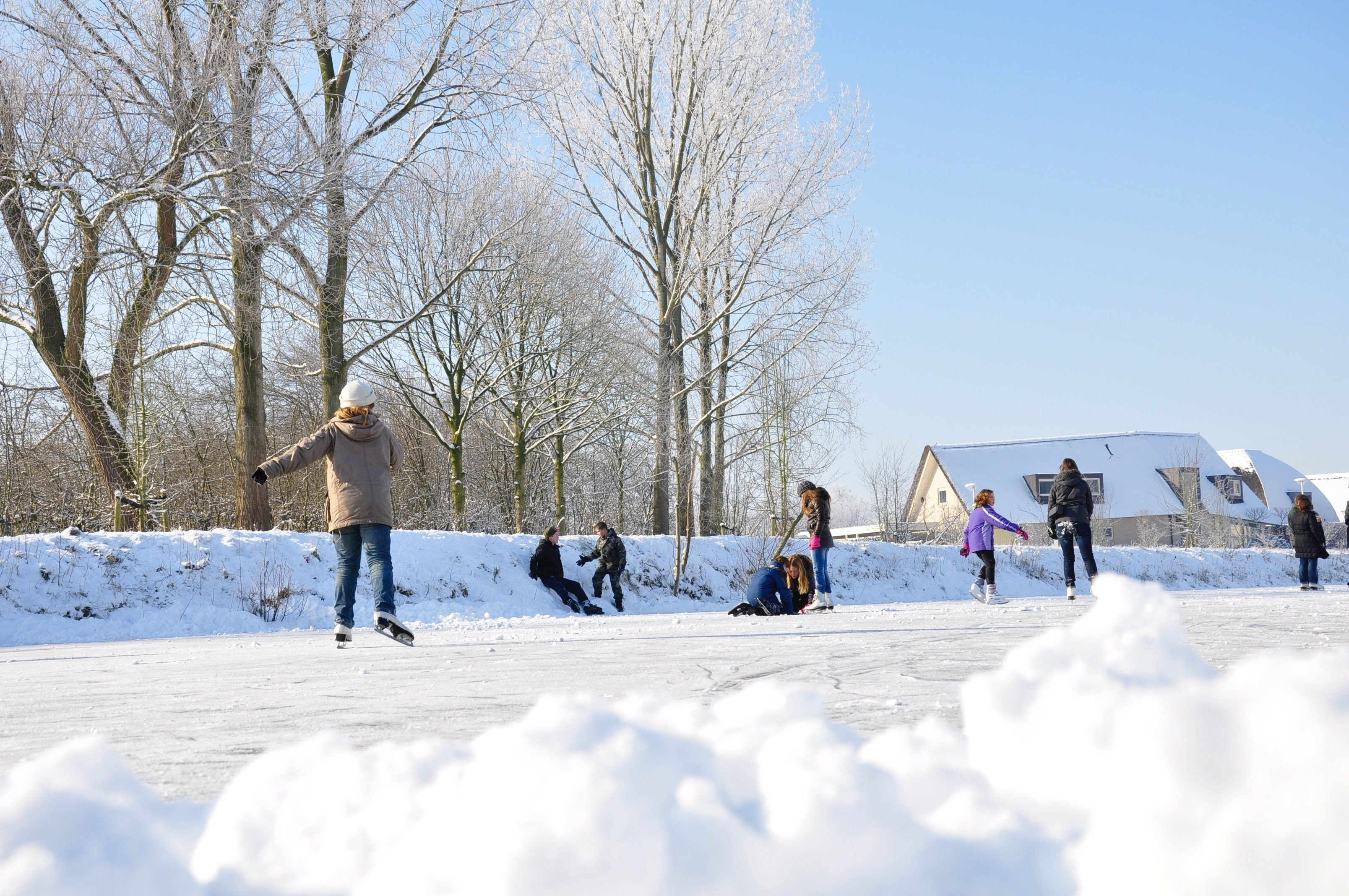 Canva - Snow, Ice Skating, Ice, Winter, Netherlands, Fun, White